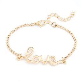 $enCountryForm.capitalKeyWord Canada - Gussy Life wholesale 1 PC Fashion Women Love Handmade Alloy Charm Jewelry Bracelet Wristband Bangle Jan22