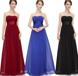 $enCountryForm.capitalKeyWord Australia - 2018 Country Style Long Bridesmaid Dresses Strapless Neck Womens Chiffon Sweetheart cheap Elegant Zipper Back wedding dress