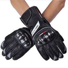 $enCountryForm.capitalKeyWord UK - Motorcycle Gloves Racing Waterproof Leather Windproof Winter Warm Leather Cycling Bicycle Cold Guantes Luvas Motor Glove