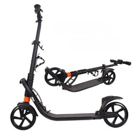 kick scooter wheels 2020 - kick scooter NEW paern foldable PU 2wheels Hand brake bodybuilding all aluminum urban campus transportation for adult ch