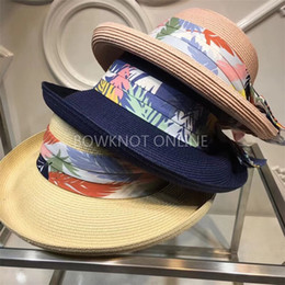 $enCountryForm.capitalKeyWord Canada - Luxury women hat with scarf Fashion Sonnenhut pearl beach cap with famous designer classic Sun hat Chapeau de soleil Wide Brim Hats for girl
