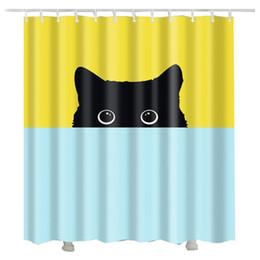 Cute Lovely Cat Printed 3d Shower Curtain Drop Shipping Various Sizes Animal Custom Bathroom Decor