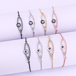 $enCountryForm.capitalKeyWord UK - New ~10Pcs Mirco Pave CZ & Abalone Shell Eye Connector Adjustable Link Bracelet Fashion Jewelry