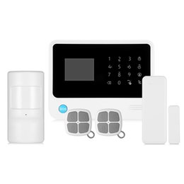 SmS home alarm online shopping - GS G90B Plus GSM WiFi GPRS SMS inch LED Touch Keypad Alarm System Home Security
