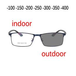 ce4da814fd Gafas de sol de la transición de la moda Miopía fotocromática Gafas de la  miopía acabadas Gafas para hombres Gafas de sol ópticas de la computadora  uv NX