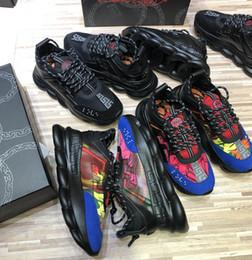 2019 novo todas as cores de alta qualidade tênis de reação em cadeia tênis de luxo designer de moda sapatos de distrito tamanho 35-46 frete grátis DHL em Promoção