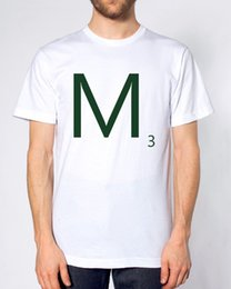 29528ac0 Scrabble Letters M 3 T Shirt Personalized Gift Present Retro Hipster Brand  Game Cool Casual pride t shirt men Unisex New Fashion