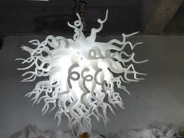 $enCountryForm.capitalKeyWord Australia - White Elegant LED Glass Art Chandelier Lighting Home Office Kitchen Decor Crystal Chandeliers Free Shipping 110-240V