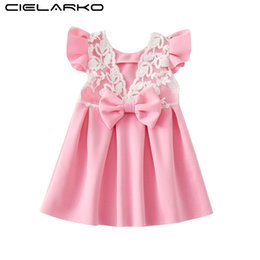 $enCountryForm.capitalKeyWord UK - Cielarko Infant Girls Dress Lace Summer 2018 Bow Baby Girl Backless Dresses Toddler Floral Clothing Kids Frock for 0-2 Years