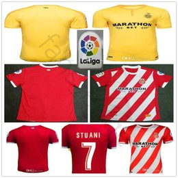 653340b30 2018 2019 Girona FC Soccer Jersey 7 STUANI 9 PORTU 10 GARCIA 15 JUANPE  BERNARDO GORKA JOHAN PERO Custom Home Red Football Shirt