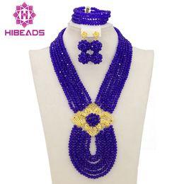 $enCountryForm.capitalKeyWord Australia - whole saleAfrican Jewelry Sets Royal Blue Nigerian Wedding Beads Fashion Jewelry Set 2017 Chunky Set Free Shipping WB053