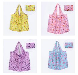 $enCountryForm.capitalKeyWord Australia - 40pcs Foldable Waterproof Storage Eco Reusable Polyester Floral Printed Shopping Tote Bags Quality shopping bags Carrier