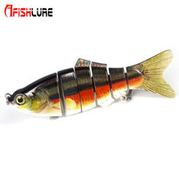 Soft Lure Bait Section Australia - wholesale 200mm 110g Artificial Wobblers pike perch muskie Fishing Lure 6 sections Multi Jointed Lifelike fishing lure Swimbait