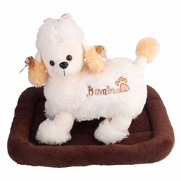 Discount pet house beds - Wholesale Fiber Dog Bed Brown House Pet Mat Homelike Pads Dog Accessories Comfortable Pet Supplies for Small Dog Cat Pet
