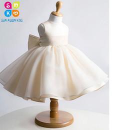 knee height dresses 2019 - Champagne Frock Design Baby Birthday Vestidos De Festa,Violet Girl Baptism Christening Party Dress For Height 70-145cm,B