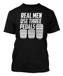 $enCountryForm.capitalKeyWord UK - Real Men Use Three Pedals Men's T-shirt Style Vintage Tees Short Sleeve Funny Top Tee Men 100% Cotton Brand Style T Shirt