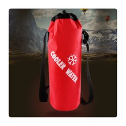 ce72b24bd79c Universal Drawstring Water Bottle Pouch High Capacity Insulated Cooler Bag  for Traveling