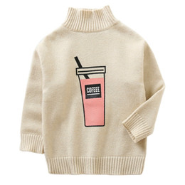 comfort baby infant 2019 - Baby Girl Tops Knitted Turtleneck Cotton Sweater Solid Warm Kids baby Knit Infant High Collar Tops Child Clothes 2-7Y co