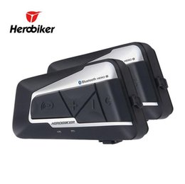 Chinese  2018-HEROBIKER 1200M Bluetooth Intercom Motorcycle Helmet Interphone Headset Waterproof Wireless Bluetooth Moto Headset Interphone manufacturers