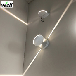 Surface mounted outdoor lightS online shopping - outdoor Waterproof w led wall lamp surface mounted led wall sconce liner light Aisle Bedroom Decorative Lighting V