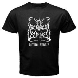 Boys Rock Tees Australia - New Dimmu Borgir Logo Death Metal Rock Band Men's Black T-Shirt Size S To 3Xl Tee Shirt Men Boy Cool Custom Short Sleeve