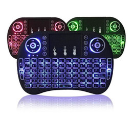 Discount backlight keyboard for tablet - Air Mouse RII I8 Mini wireless keyboard Android tv box remote control backlight keyboards used for s905W S912 Tablet XBo