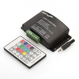 Sound Controller Australia - DC12V-24V RGBW Music LED Controller 4A*4CH 24Keys RF Remote Sound Sensor Voice Audio Control for SMD 3528 5050 RGBW LED Strip Light