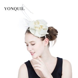 Ostrich Feathers Hair Accessories NZ - 2017 Popular Bride hair accessories fancy feather ostrich fascinator in hair bands brand hats for holiday women's day 18Colors select SYF193