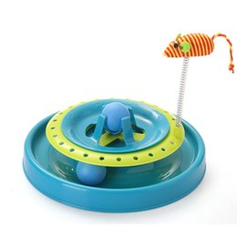 New Crazy Toys NZ - New Style Cheap Mouse Toy Cat Tower Double Layers of Tracks Crazy Cat Amusement Toy Cat Suppliers