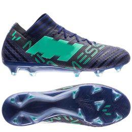 Tpu fooTball shoes online shopping - 2018 mens soccer cleats Nemeziz Messi FG soccer shoes nemeziz football boots Agility TPU size botas de futbol Cheap