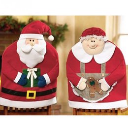 Christmas Decorations Kitchen Chair Cover Featuring Mr And Mars Santa Claus Transform Your Dining Room Chairs