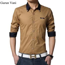 eb618edb49d Metal Collar Corner Modify Mens Long Sleeved Dress Shirts Fashion Casual  Slim Fit Shirt Men Clothes Size M~5XL 7 Colors C201