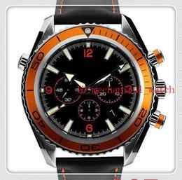 Orange Bezel Canada - Wholesale-Luxury New James Bond 007 Automatic Black Dial Orange Bezel Stainless Bracelet High Quality Mens Watch Men Sport Watches aaa44-6