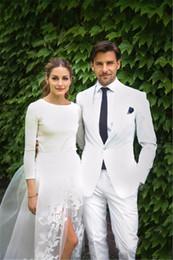 $enCountryForm.capitalKeyWord NZ - Latest Coat Pant Designs White Formal Wedding Suits For Men Bridegroom Custom Made Slim Fit Beach 2 Piece Blazer Masculino