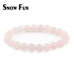 rose quartz beads 8mm 2019 - Snow Fun Beautiful 8mm Rose Quartz Beads Bracelet for Women Gift Jewelry cheap rose quartz beads 8mm