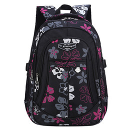 $enCountryForm.capitalKeyWord NZ - New Fashion Floral printing large capacity School Bags for Girls Brand Women Backpack Cheap Shoulder Bag Wholesale Kids Backpack Y18100705