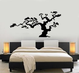 Tree Sticker For Blue Wall Australia - Japanese Bonsai Tree Vinyl Wall Stickers for living room bedroom home wall decoration