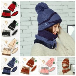 7dbd2f50e85 Wool earmuffs online shopping - Wommen knit hat mask scarf Set earmuffs  Knitted Hat With Bib