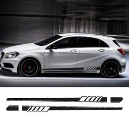 $enCountryForm.capitalKeyWord NZ - NEW Edition 1 Style Side Skirt Racing Stripe Decal Stickers for Mercedes Benz W176 A Class A180 A200 A250 A45 AMG