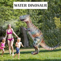 outdoor toys for kids 2019 - 180cm Children Outdoor Water Dinosaur Simulation Toy Newest Summer Fun Inflatable Toy For Kids NNA235 cheap outdoor toys