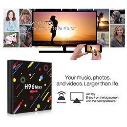 Android Media Box 4gb Canada - H96 MAX H2 4GB 64GB RK3328 Android 7.1 TV Box Bluetooth 4k 5G Dual wifi Media Player