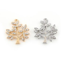 China 21*20mm Silver Gold Color Zinc Alloy Crystal Tree of Life Charms Pendant for Women Bracelet Jewelry Making Handmade DIY supplier tree life bracelets silver suppliers