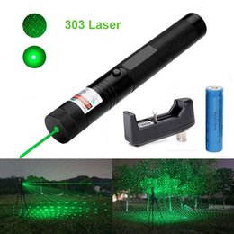 Green Chargers Australia - DHL 303 Green Laser Pointer Pen 532nm 5mw Adjustable Focus & Battery + Charger US Adapter Set Free Shipping
