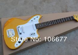 Großhandel Kostenloser Versand ** 2014 neue Ankunft ** Top Qualität Fabrik Gitarre Golden JAGUAR Custom Shop E-Gitarre ST auf Lager