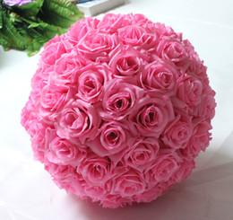 White Rose Pomander Australia - Free shipping 12 Inch Wedding silk Pomander Kissing Ball flower ball decorate flower artificial flower for wedding garden market decoration