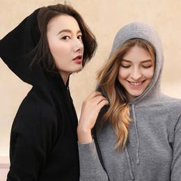 Knitting Models Women Canada - 2018 Autumn Women Hoody Sweatshirt Womens Hooded Collar Wool Knit Hoodies Pullover Winter Knitwear New Explosion Model Coveryarn