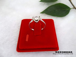 Wooden Ring Display Cases Canada - Brand Jewelry Display Pendant Ring Earring Stand Holder Red Velvet Earrings Pads Magnetic Jewelry Display Tray Storage Box Case