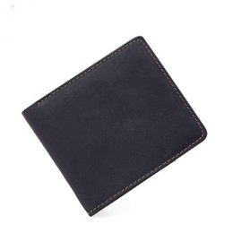 Hot Korean Men Models UK - Hot models crazy leather leather men's short wallet retro casual horizontal paragraph bag Card & ID Holders men's purse