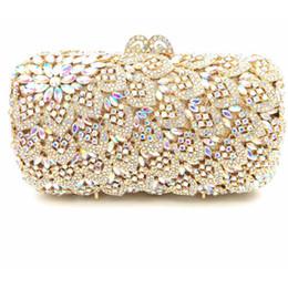 747bb28dd Cute Lady oro / plata multi color pedrería Rhinestones mini noche monedero  de diamantes bolsos de noche bolso de hombro de cadena para la boda
