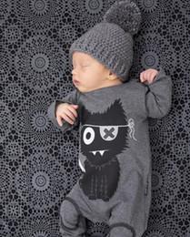 Ingrosso Nuovi pagliaccetti del bambino vestiti del neonato della neonata del cotone dei vestiti della ragazza del bambino vestiti lunghi della tuta infantile del fumetto